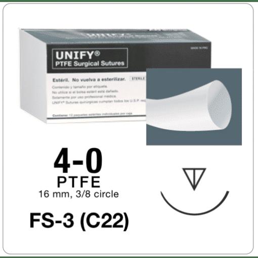 PTFE Suture, 4-0, FS3 (C22), 12PK