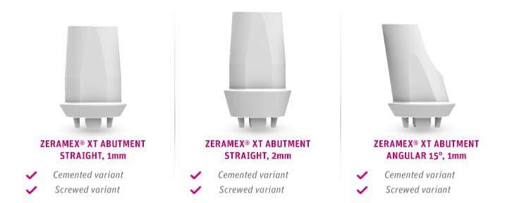 Zeramex Implant System Xt Prosthetics Abutments